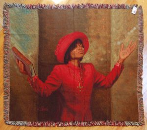 Blessed and Highly Favored Tapestry Throw