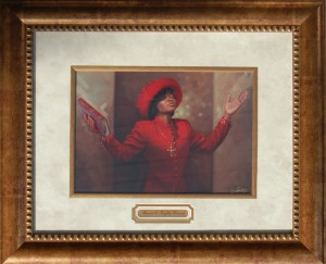 Blessed and Highly Favored Framed Print